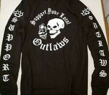 LONG SLEEVE Support your local Outlaws Biker Motorcycle MC outlaw shirt sleeves
