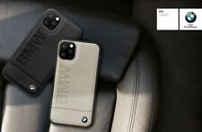 Genuine BMW Signature Debossed Logo Impact Leather Case for iPhone 11 Pro