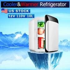 10L Portable Mini Fridge Home Office Car 110V/12V Freezer Cooler Refrigerator Us