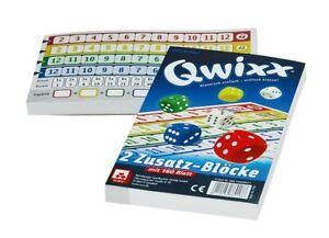 Qwixx Zusatz-Blöcke Würfelspiel Block Spiel Kartenspiel Kinder Gesellschaftsspie