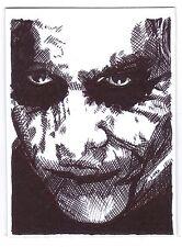 ACEO Sketch Card Actor Heath Ledger as The Joker from Batman Dark Knight Movie