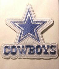 "4"" FOOTBALL Dallas cowboys Iron-on/Sew-on Embroidered PATCH/applique"
