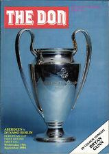 EC I 84/85 FC Aberdeen - BFC Dynamo, 19.09.1984