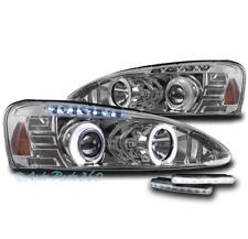 04-08 PONTIAC GRAND PRIX HALO LED PROJECTOR HEADLIGHTS LAMPS CHROME W/DRL SIGNAL