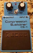 BOSS CS-1 *SILVER SCREW* LOW SERIAL # *Made In Japan Compressor sustainer Cs-2