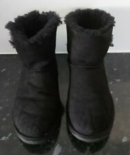 Emu Water Resistant Ore Button Down Boot Black Size 4 used