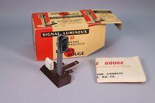 ZH152 Disque Rouge Jouef Train Rail Ho 110 Signal lumineux a commande manuelle