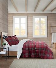 Premier Comfort Reversible Sherpa 3 Piece King Comforter Set Red Plaid $180