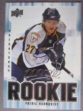 2008-09 Upper Deck MVP Rookie #372 Patric Hornqvist Nashville Predators RC