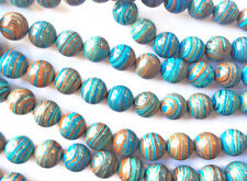 Calsilica Rainbow Semi Precious Stone Man-made Dyed 14mm Round Bead Q1 Strand