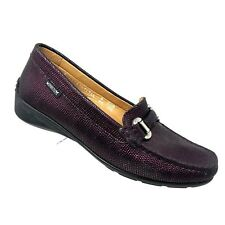 Mephisto NATALA Loafer Purple Snake Embossed Leather Moc Toe Womens SIZE 8.5