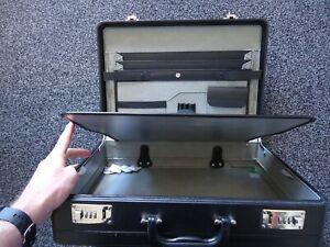 Executive Attache Briefcase Faux Leather Combination Lock