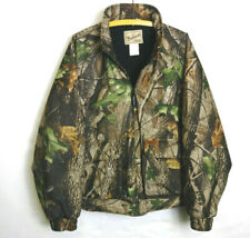 VINTAGE MEN'S WOOLRICH OUTDOOR GUIDE COLLECTION CAMOUFLAGE HUNTING JACKET - LG!