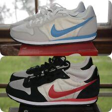 Mens Nike Genico White Blue Walk Run Sz 9.5 or 10 Black Red