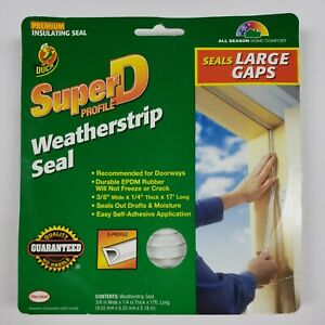 Duck Brand Heavy-Duty Weatherstrip Seal For Large Gaps, .38 In. X .25 In. X 17