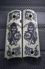 "#209 1911/Clones For Kimber/Colt Frames w/ Hand Scrimshawed ""Son's Of Anarchy"""
