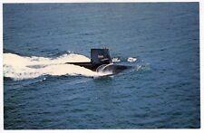 USS SKIPJACK SSN-585 PC Postcard SUBMARINE US Navy NAVAL USN Groton CT Sub