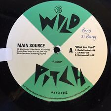 """MAIN SOURCE WHAT YOU NEED/MERRICK BLVD. MIKEY D 12"""" 1993 OG VG+"""