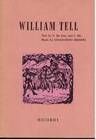 Rossini: Guglielmo Tell (William Tell) Version IN English - Libretto Ricordi