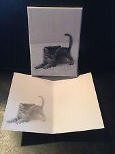 Box Of 15 Kitten Kitty Cat Note Cards Envelopes Stationary Paper Office Blank S