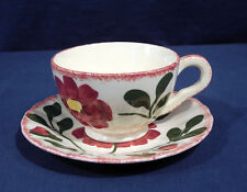 Blue Ridge Southern Potteries China Red Nocturne Colonial Cup and + Saucer Set