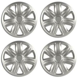 Equip 13'' Universal Fit ABS Plastic Wheel Trim Covers Stylish Hubcaps Set of 4