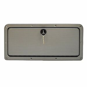 Rinker 262 Gold / Silver Boat Locking Glove Compartment Door