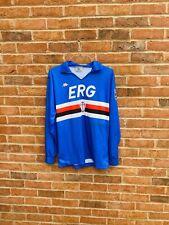 U.C Sampdoria 1989-90 Kappa Shirt Maglia Calcio Trikot Maillot Large Longsleeve