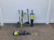 Ryobi RY40002 40V Cordless String Trimmer Blower Edger Lawn Power Tool Lot