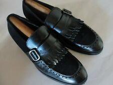 Emporio Armani Men's Black Leather / Suede Dress  Loafers  Shoes Sz-10