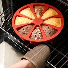 8 in 1 Large 8 Hohlräume Runde Silikon-Individual oven microwave Kuchenform