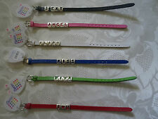 Set of 6 novelty faux leather bracelets/wrist bands- great Hen party bag fillers