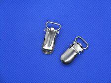 2 Stück Hosenträger Hosenträgerclip 25 mm