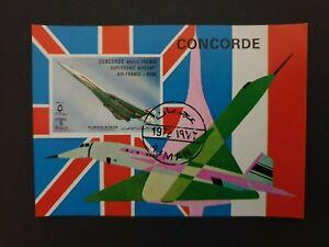 Ajman state Concorde stamps souvenir sheet 1973 - MNH