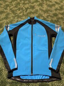 Endura Ladies Blue Black Windchill II Cycling Jacket Size S VGC