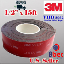 Foam Adhesive Tape Double Sided 3M 1/2Inch x 15 Ft Very High Bond Genuine Strong