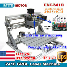 【USA】3 Axis 2418 DIY Mini CNC Laser Machine GRBL Control Pcb Milling Wood Router