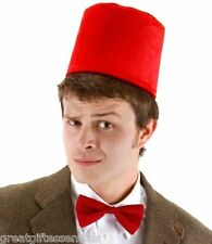 Dr Doctor Who Fez Hat Bow Tie Set 11th Costume Matt Smith Red BBC LICENSED USA