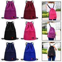 Gym Bag for Women Mens Drawstring backpack water resistant Nylon Bag