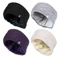 Heat Holders - Womens Thick Thermal Fleece Insulated Winter Ear Warmer Headband