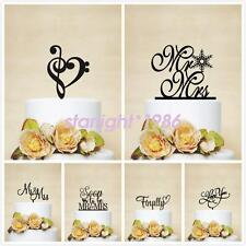 Acrylic Anniversary Birthday Wedding Cake Topper Romantic Gift Quality New
