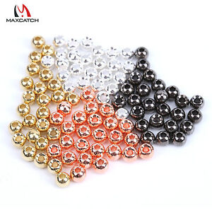 Maxcatch Fly Tying Tungsten Beads 100pcs 4 mixed colors Nymph Fly Fishing Beads