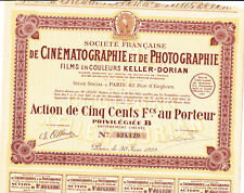 Société Francaise de Cinématographie et de Photographie Films Keller-Dorian-1929