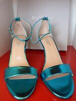 CARVELA TURQUOISE SHOES METALLIC SANDALS ..UK 4   EU 37 .. NEW / KURT GEIGER