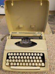 Beige Royal Royalite typewriter vintage appx 1965-1966 - working condition