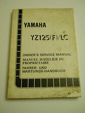 YAMAHA YZ125 F / LC   1994 OFFICIAL OWNERS  SERVICE  MANUAL