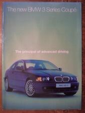 BMW 3 SERIES COUPE orig 1999 UK Mkt Publicity Brochure - 323Ci 328Ci