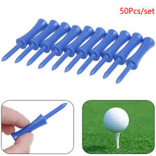 50Pcs/set Plastic Step Down Golf Tees Height Control Blue 2.68 inchWl