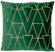 Large Green Velvet cushion cover gold stiching square material cover 16×16