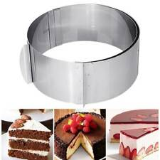 Stainless Steel Round Circle Cookie Fondant Cake Mold Cutter Pastry Tool Mould